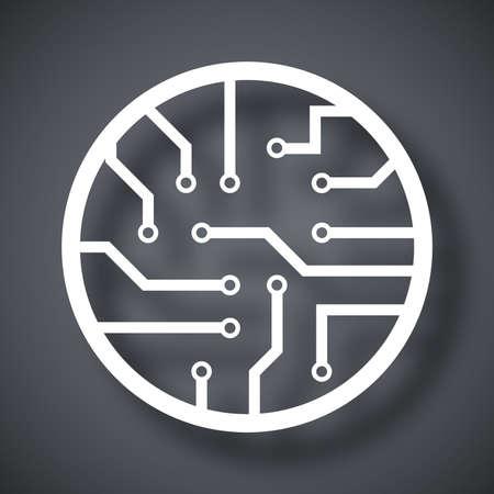 gpu: Vector circuit board icon