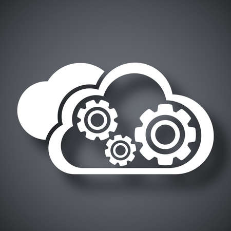 cloud computing services: Vector cloud computing icon Illustration