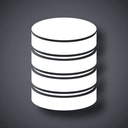 virtualization: Vector database icon Illustration