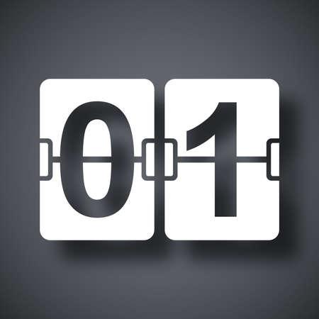 january 1st: Vector flip calendar icon