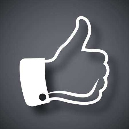 thumbs up icon: Vector icono del pulgar hacia arriba