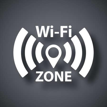 dsl: Icona della rete vettore Wi-Fi