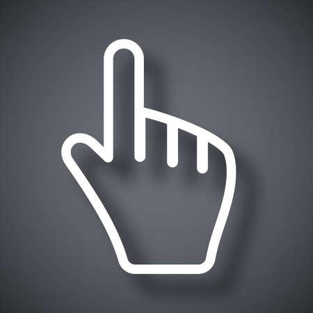 hand cursor: Hand cursor, vector