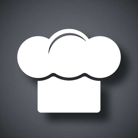 chefs cooking: Vector chief hat icon