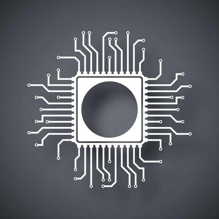 gpu: Vector chip icon Illustration