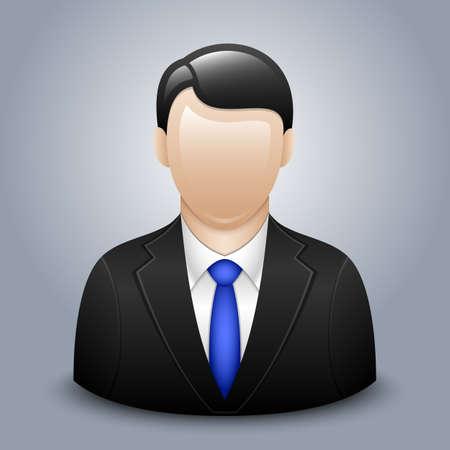 hombres ejecutivos: Vector icono de usuario del hombre en traje de negocios Vectores