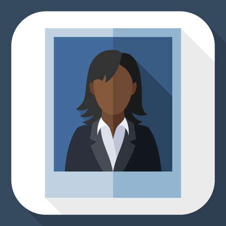 traje sastre: Imagen de una mujer de negro en un traje de negocios con una larga sombra