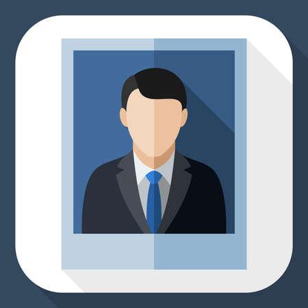 traje sastre: Imagen de un hombre en un traje de negocios con una larga sombra Vectores