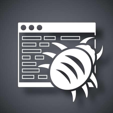 adware: Vector malware icon