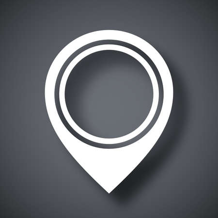 map pointer: Vector map pointer icon