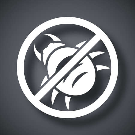 computer virus protection: Vector no malware icon