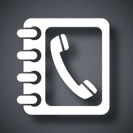 phone book: Vector phone book icon Illustration