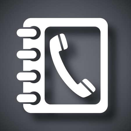 phone vector: Vector phone book icon Illustration