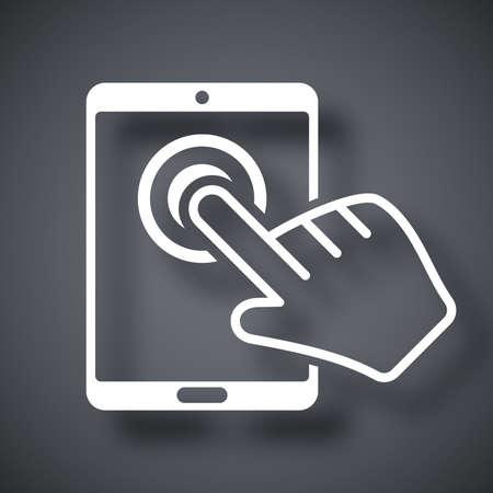 toque: Vector tablet �cone da tela de toque
