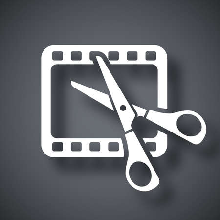 Vector video editing icon Çizim