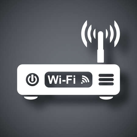 workgroup: Vector wireless router icon