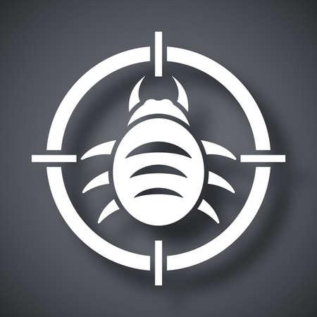shield bug: Vector bug target icon