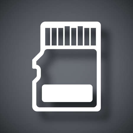 Vector micro SD card icon Illustration