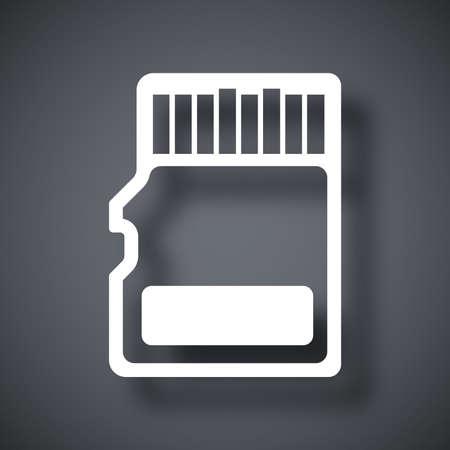 sd: Vector micro SD card icon Illustration