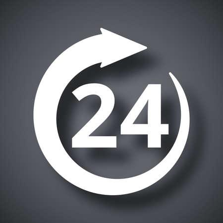 24: Vector open 24 hours icon