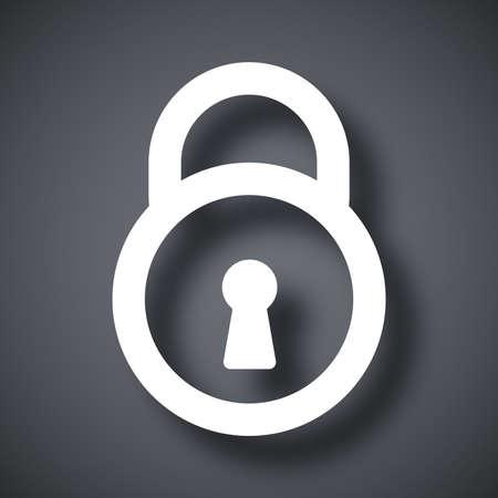 icono candado: Vector icono de candado Vectores