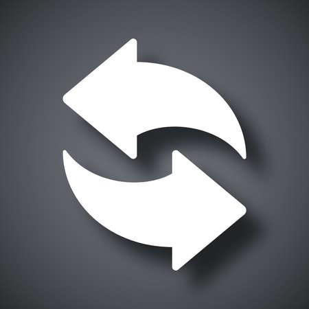 refrescar: Vector icono de actualización Vectores