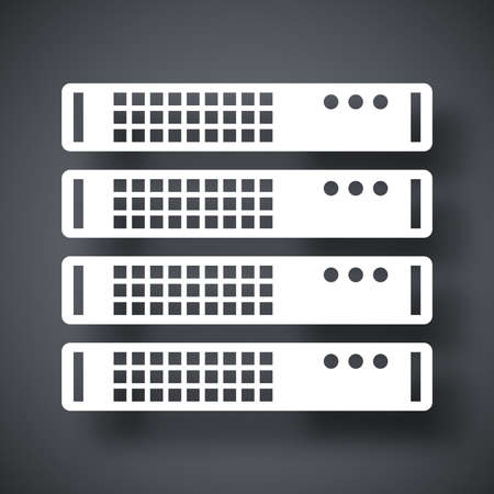 virtualization: Vector server rack icon Illustration