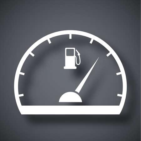 fuel gauge: Fuel gauge icon, vector