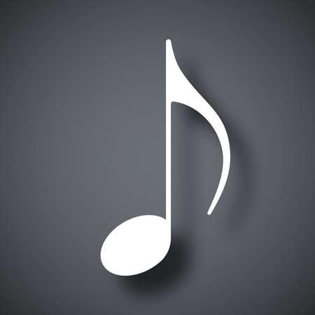 pianoforte: Music note icon, vector