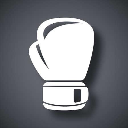 guantes de box: Vector icono de guante de boxeo