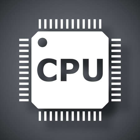 circuitry: Vector CPU icon Illustration