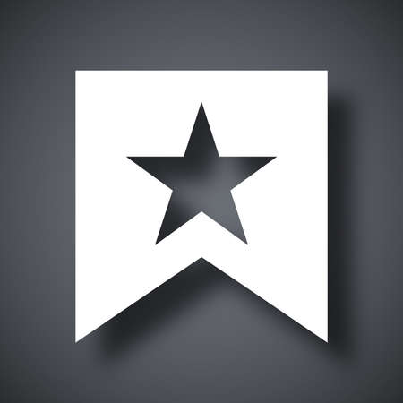 Vector flag with star icon Illustration