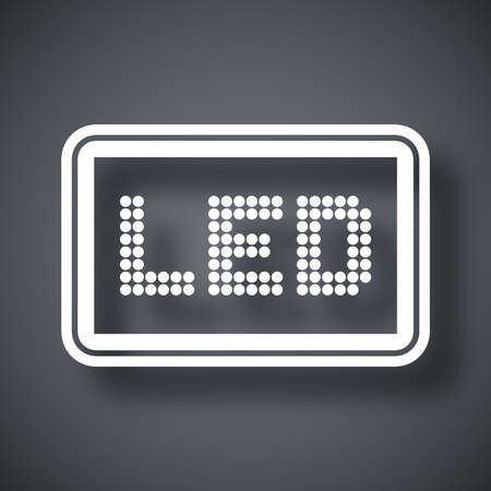 screen type: Vector LED screen icon