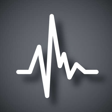 PULSE: Vector pulse heart rate icon