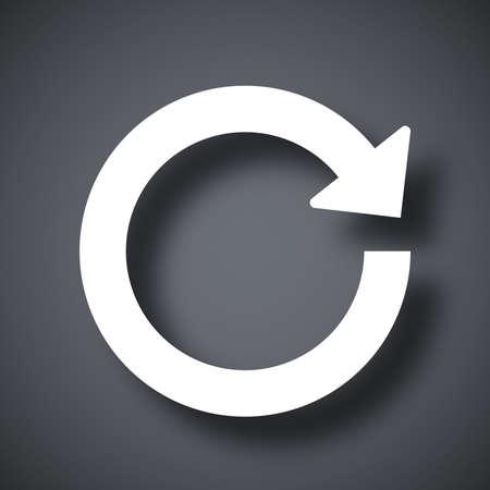 a loop: Vector reload icon