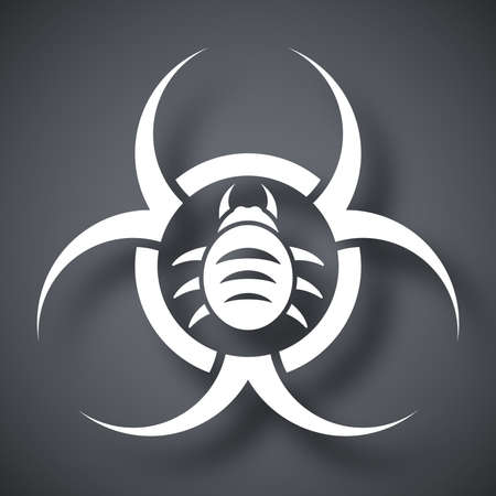 infectious waste: Vector biohazard virus icon