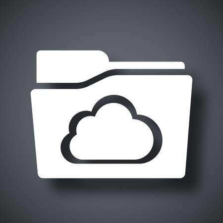 Vector cloud folder icon