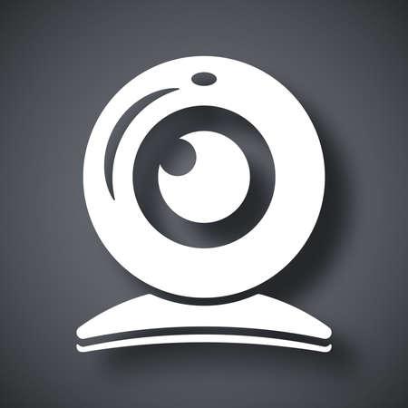 ip camera: Vector webcam icon