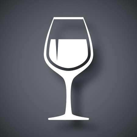 chianti: Vector wineglass icon