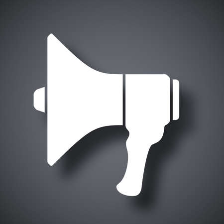 broadcasting: Megaphone icon, vector illustration Illustration