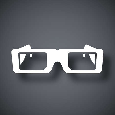 spectacle: Vector 3D Glasses Icon