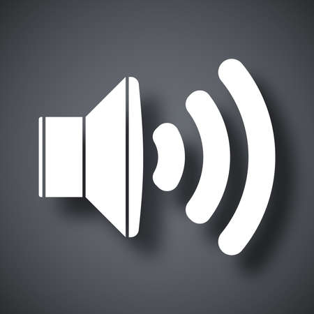 audio speaker: Vector audio speaker icon