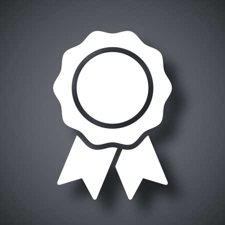 Vector badge with ribbons icon