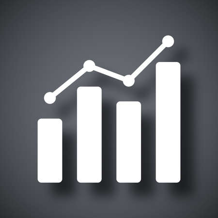 Vector business graph icon Illustration