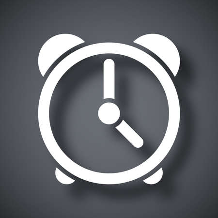 analog dial: Vector clock icon Illustration