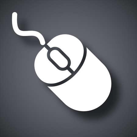 Vector computermuis icoon Vector Illustratie