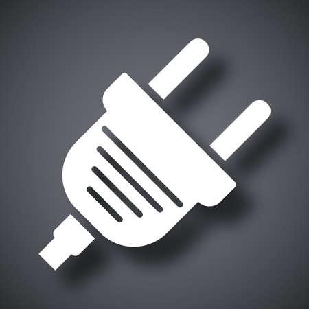 enchufe: Vector icono de enchufe eléctrico