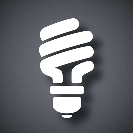 saving electricity: Vector energy saving fluorescent light bulb icon Illustration