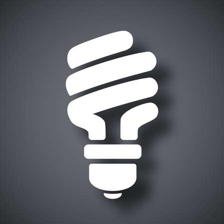 electricity: Vector energy saving fluorescent light bulb icon Illustration