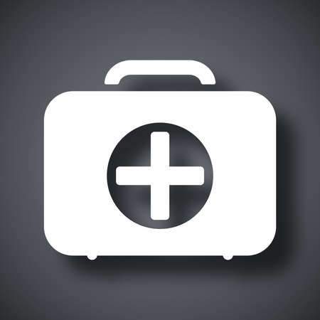 first aid box: Vector first aid box icon